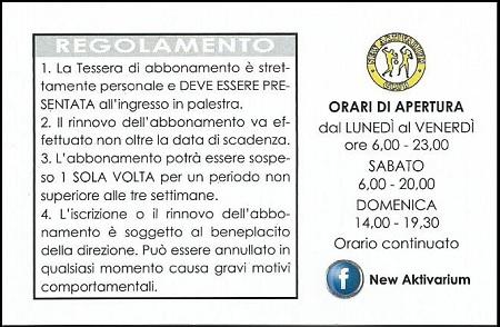 Regolamento Palestra Modena